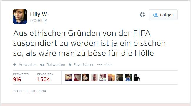 FIFA und die Hölle: Spot auf Twitter.