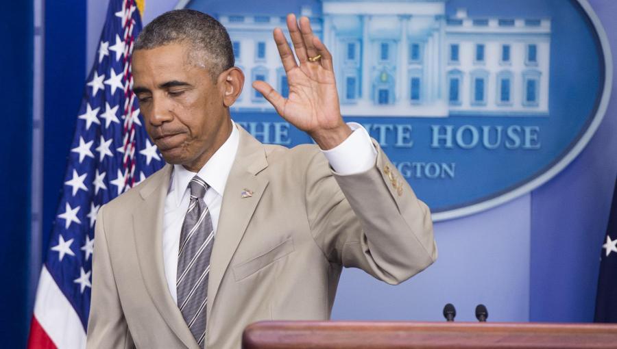 Barack Obama trägt ungewohnt helle Farben - Aufreger für viele.
