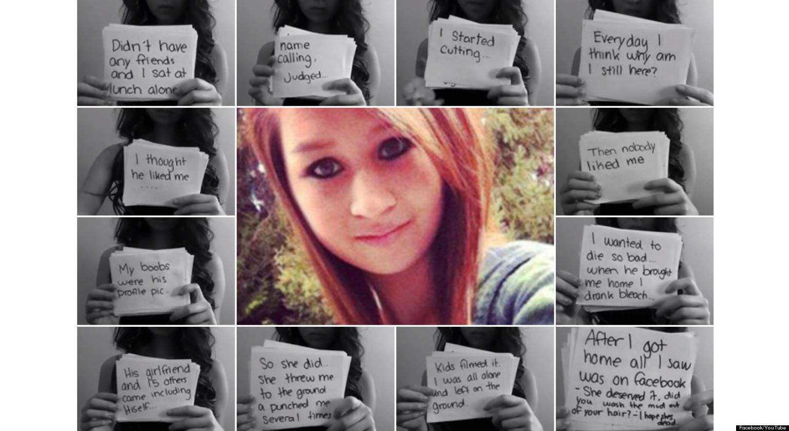 Amanda Todd: Von Mitschülern in den Selbstmord getrieben.
