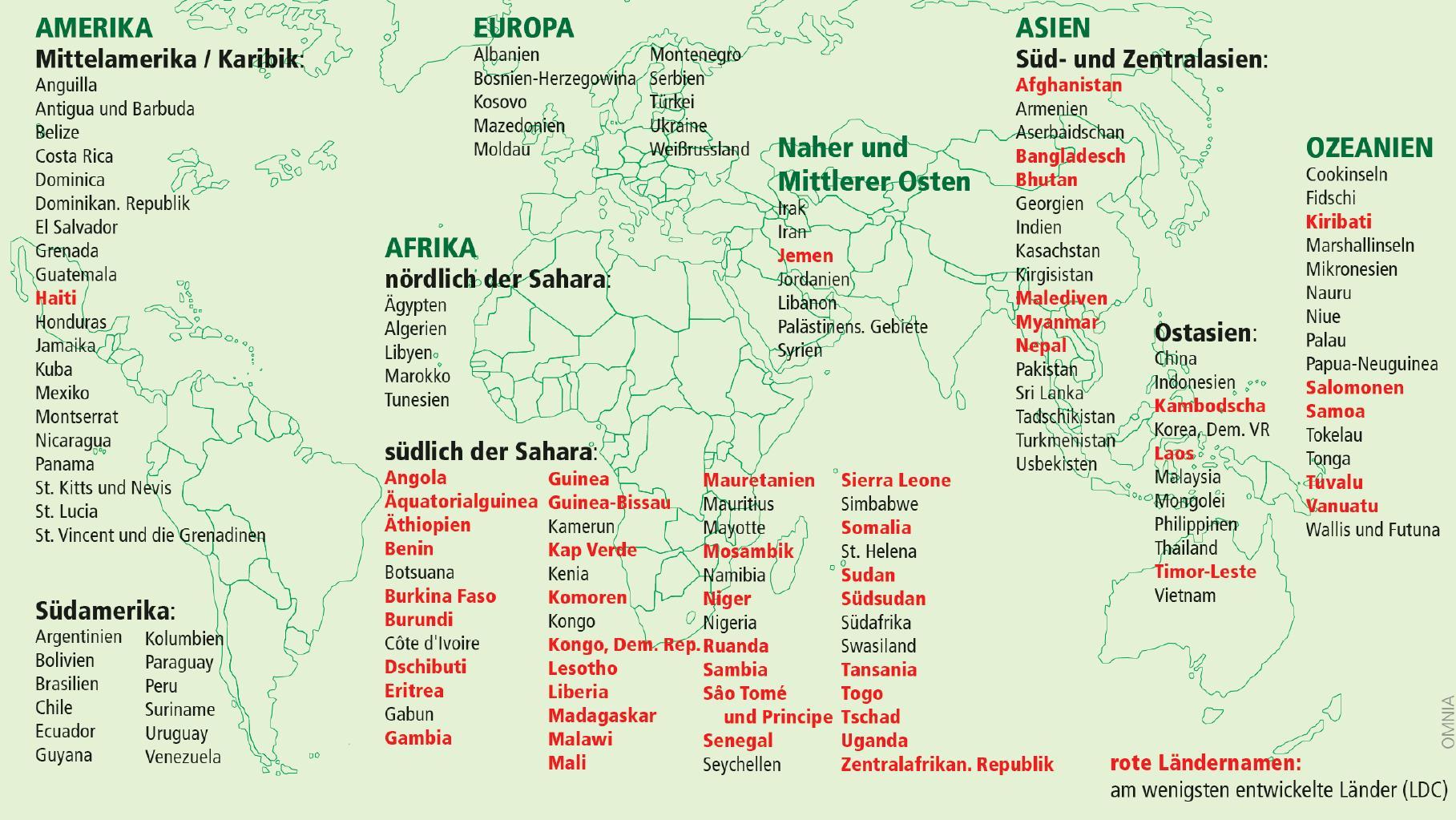 Entwicklungsländer - als Reiseziele tödlicher als gedacht.     Quelle: Omnia.