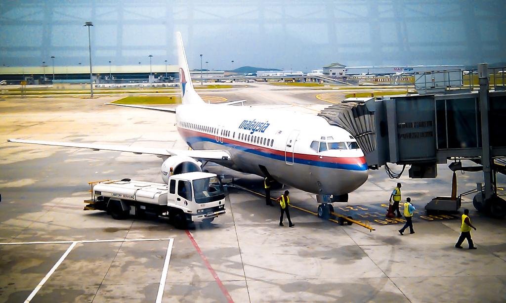 Flugzeug von Malaysia Airlines - nicht das Unfallflugzeug! Quelle: Wiki Commons.