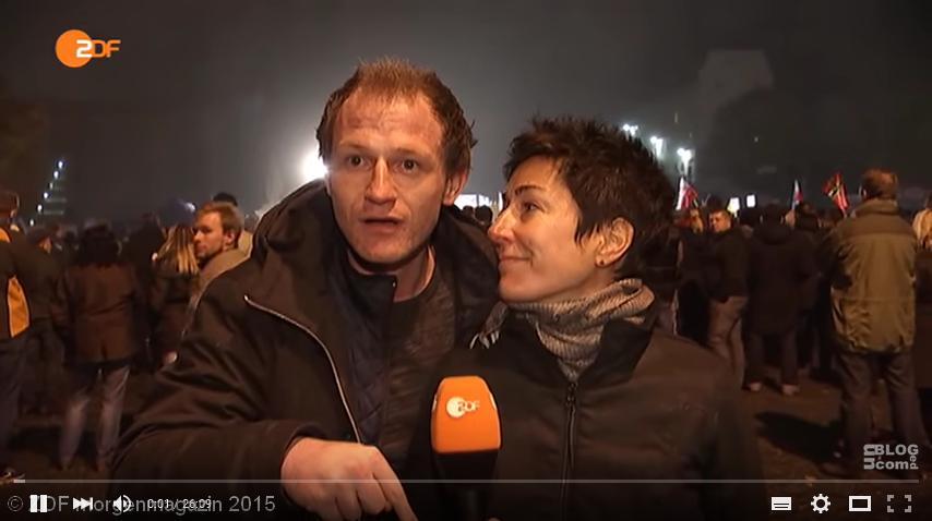 Dunja Halali interviewt Pegida-Unterstützer.