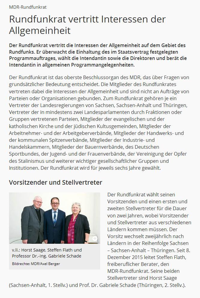 Horst Saage vom Bauernverband (li.) ist Stellvertretender Vorsitzender des MDR-Rundfunkrates.